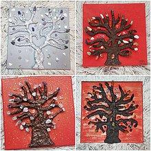 Obrazy - Strom života s polodrahokamami na objednávku - 10395651_