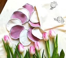 Úžitkový textil - Balíček jednofarebných BIO odličovacich tamponov (Tyrkysová) - 10396480_