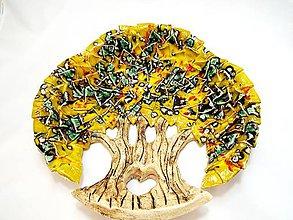 Nádoby - Misa-strom života (Žltá) - 10395032_