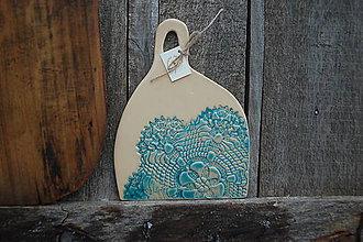 Pomôcky - Lopárik keramický čipka - 10395534_