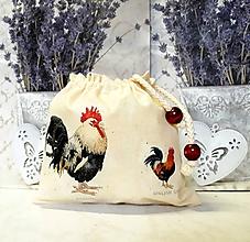 Úžitkový textil - vidiecke vrecúško kohút - 10396450_