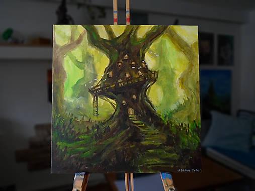 • Stromový príbytok • /maľba akrylom/