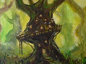 Obrazy - • Stromový príbytok • /maľba akrylom/ - 10394345_