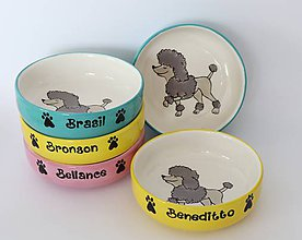 Pre zvieratká - Miska pre psa s menom - pudlík - 10397359_