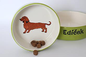 Pre zvieratká - Miska pre psa s menom - jazvečík - 10397363_