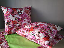 Úžitkový textil - Kvetinové sady (Ružové kvety) - 10399128_