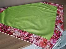 Úžitkový textil - Kvetinové sady (Ružové kvety) - 10399129_