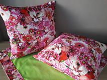 Úžitkový textil - Kvetinové sady (Ružové kvety) - 10399130_
