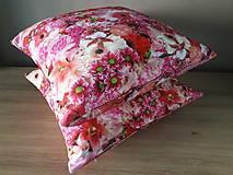 Úžitkový textil - Kvetinové sady (Ružové kvety) - 10399131_