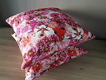 Úžitkový textil - Kvetinové sady (Ružové kvety) - 10399132_