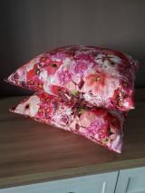 Úžitkový textil - Kvetinové sady (Ružové kvety) - 10399133_