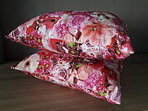 Úžitkový textil - Kvetinové sady (Ružové kvety) - 10399134_