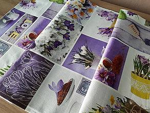 Úžitkový textil - Jarný set  (Stredový obrus Love Garden) - 10399251_