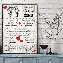Dekorácie - (111dt) Valentínska tabuľka pre ŽENU (Sivá neutrálna bez špagátu) - 10398172_