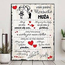 Dekorácie - (111dt) Valentínska tabuľka pre MUŽA (Sivá neutrálna bez špagátu) - 10398277_
