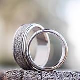 Prstene - Prachom zdobené  /svadobné obrúčky/ - 10399264_