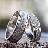 Prstene - Prachom zdobené  /svadobné obrúčky/ - 10399266_