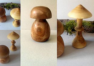 Dekorácie - drevené hríby... - 10400207_