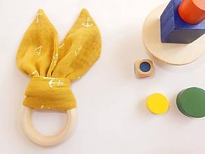 Hračky - Drevené hryzátko pre bábätká - kotva - 10401186_