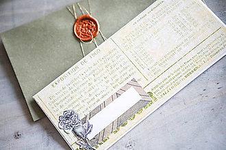 Papiernictvo - Obálka s pohľadnicou - na peniaze - 10400538_