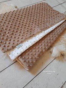 Textil - Mäkučká deka 70x100 : minky/bavlna - 10400463_