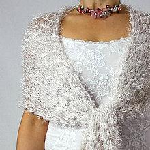 Šály - Jemný pudrový | svadobny pletený šál - 10398896_