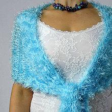 Šály - Ledová studánka... luxusní šál / pléd - 10398910_