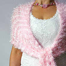 Šály - Sakurový   svadobny šál baby pink - 10398920_