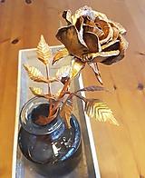 Dekorácie - Medená ruža - kvet, ktorý nikdy nezvädne - 10398360_