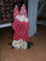 Dekorácie - Veľkonočný zajko. - 10399413_