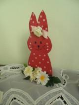 Dekorácie - Veľkonočný zajko. - 10399414_