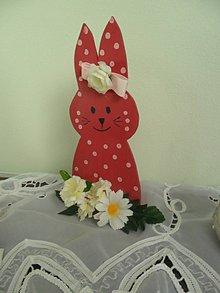 Dekorácie - Veľkonočný zajko. - 10399416_