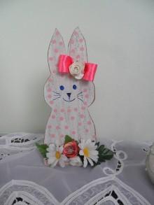 Dekorácie - Veľkonočný zajačik. - 10399494_