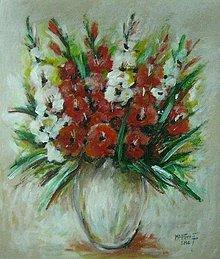 Obrazy - Moje gladioly - 10401763_