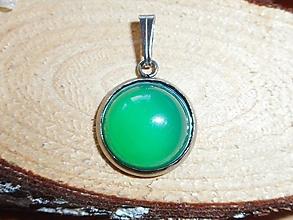 Náhrdelníky - calcedônia verde - 10401768_