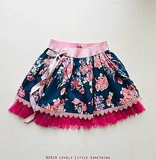 Detské oblečenie - Suknička Flower GArden - Blue&Pink - 10398996_