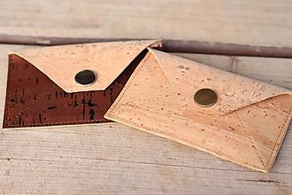 Peňaženky - Korková peňaženka XS - 10399819_
