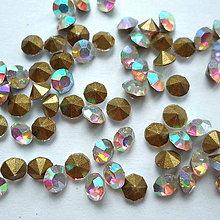 Korálky - Šaton 3,8mm-krystal AB-1ks - 10400514_