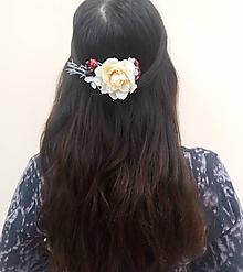 """Ozdoby do vlasov - Kvetinový hrebienok s lesnými plodmi """"Diana"""" - 10399058_"""