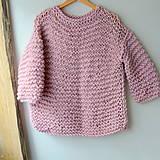 Pletený sveter FREE v púdrovoRužovej