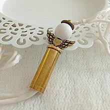 Náramky - Hodvábny náramok s nábojnicovým anjelikom - 10401057_