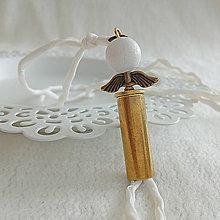 Náramky - Hodvábny náramok s nábojnicovým anjelikom - 10401082_