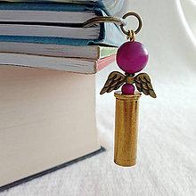 Papiernictvo - záložka nábojnicový anjel fialový - 10401325_