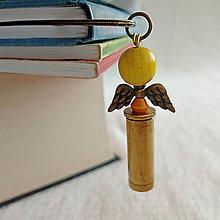 Papiernictvo - záložka nábojnicový anjel žltý - 10401490_