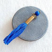 Náhrdelníky - prívesok modrý anjel z nábojnice - 10401536_