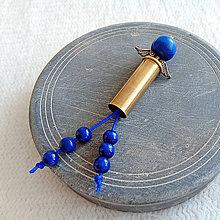 Náhrdelníky - prívesok modrý anjel z nábojnice - 10401552_