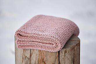 Textil - Staro-ružová detská deka - 10400922_