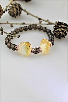Náramky - citrín so záhnedou náramok - 10401251_