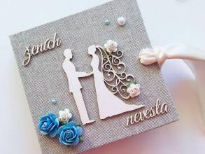 Darčeky pre svadobčanov - Svadobná obálka na peniaze - 10400141_