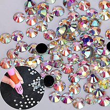 Galantéria - Hot fix Crystal AB - rôzne veľkosti - mix - 10398512_